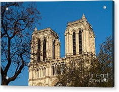 Acrylic Print featuring the photograph Notre Dame Towers by Kim Wilson