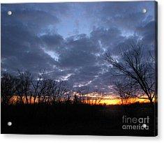 November Sunrise Acrylic Print by Cedric Hampton