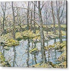 November  Acrylic Print by Walter Elmer Schofield