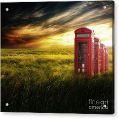 Now Home To The Red Telephone Box Acrylic Print by Lee-Anne Rafferty-Evans