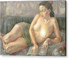Nu 28 Acrylic Print by Leonid Petrushin