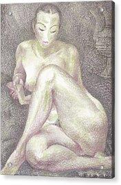 Nu 36 Acrylic Print by Leonid Petrushin