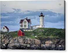 Nubble Light At Dusk Acrylic Print by Eric Gendron