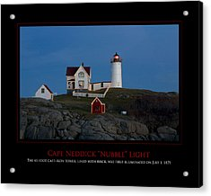 Nubble Light Acrylic Print by Jim McDonald Photography