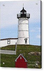 Nubble Lighthouse- Canvas Acrylic Print by Luke Moore