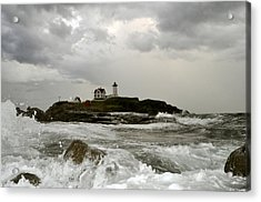 Acrylic Print featuring the photograph Nubble Lighthouse In The Thick by Rick Frost