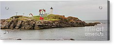 Nubble Lighthouse Acrylic Print by Jack Schultz