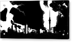 Nuclear Fallout Acrylic Print by Russell Clenney