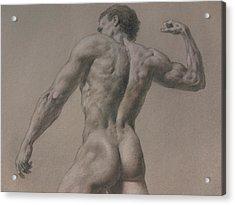 Nude - 8 A Acrylic Print by Valeriy Mavlo