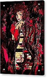 Nude 4 Acrylic Print by Natalie Holland