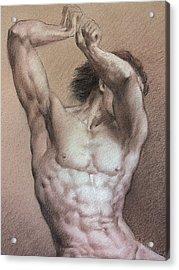 Nude 9 A Acrylic Print by Valeriy Mavlo