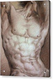 Nude 9 B Acrylic Print by Valeriy Mavlo