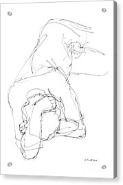 Nude Male Drawings 7 Acrylic Print