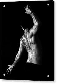 Nude Man Acrylic Print by Sumit Mehndiratta