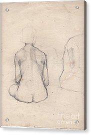 Nude Study 4 Acrylic Print by Brian Francis Smith