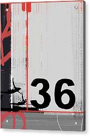 Number 36 Acrylic Print by Naxart Studio