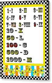 Numbers Juvenile Licensing Art Acrylic Print