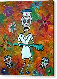 Nurse Acrylic Print by Pristine Cartera Turkus