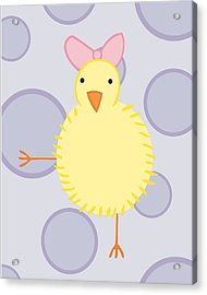 Nursery Art Baby Bird Acrylic Print by Christy Beckwith