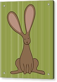 Nursery Art Bunny Acrylic Print by Christy Beckwith