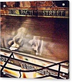 #ny #metro #subway #station #train Acrylic Print