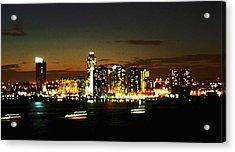 Ny Night Skyline Acrylic Print by Jenn Bodro