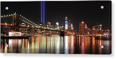 Nyc - Manhattan Skyline 9-11 Tribute Acrylic Print