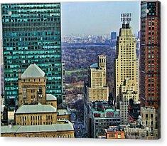 Nyc Central Park Acrylic Print by Edward Sobuta