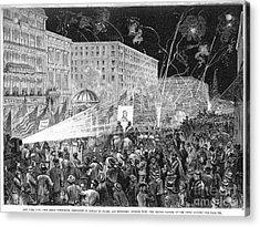 Nyc: Democrat Parade, 1876 Acrylic Print by Granger