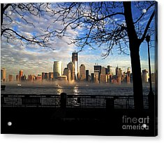 Acrylic Print featuring the photograph Nyc Fog by Thanh Tran