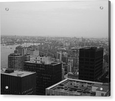Nyc From The Top 2 Acrylic Print by Naxart Studio