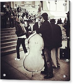 #nyc #ny #manhattan #newyork #cello Acrylic Print