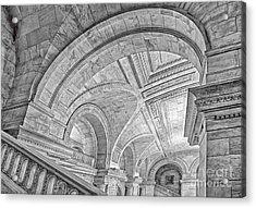 Nyc Public Library Acrylic Print by Susan Candelario
