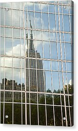 Nyc Reflection 4 Acrylic Print by Art Ferrier