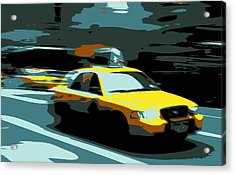 Nyc Taxi Color 6 Acrylic Print by Scott Kelley