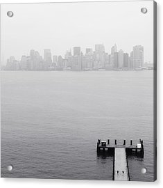 Nyc View From Liberty Island Acrylic Print by Nina Papiorek