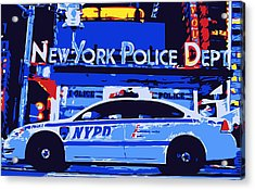 Nypd Color 6 Acrylic Print by Scott Kelley