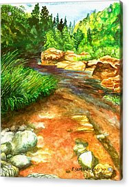Oak Creek Red Acrylic Print