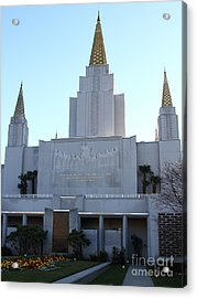 Oakland California Temple . The Church Of Jesus Christ Of Latter-day Saints . 7d11327 Acrylic Print by Wingsdomain Art and Photography