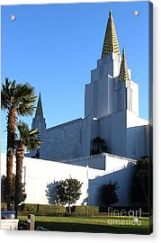 Oakland California Temple . The Church Of Jesus Christ Of Latter-day Saints . 7d11329 Acrylic Print by Wingsdomain Art and Photography