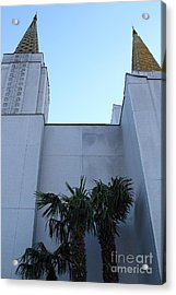 Oakland California Temple . The Church Of Jesus Christ Of Latter-day Saints . 7d11331 Acrylic Print by Wingsdomain Art and Photography