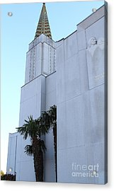 Oakland California Temple . The Church Of Jesus Christ Of Latter-day Saints . 7d11335 Acrylic Print by Wingsdomain Art and Photography