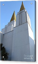 Oakland California Temple . The Church Of Jesus Christ Of Latter-day Saints . 7d11336 Acrylic Print by Wingsdomain Art and Photography