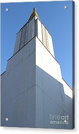 Oakland California Temple . The Church Of Jesus Christ Of Latter-day Saints . 7d11337 Acrylic Print by Wingsdomain Art and Photography