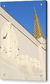 Oakland California Temple . The Church Of Jesus Christ Of Latter-day Saints . 7d11348 Acrylic Print by Wingsdomain Art and Photography