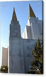 Oakland California Temple . The Church Of Jesus Christ Of Latter-day Saints . 7d11357 Acrylic Print by Wingsdomain Art and Photography