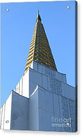 Oakland California Temple . The Church Of Jesus Christ Of Latter-day Saints . 7d11358 Acrylic Print by Wingsdomain Art and Photography