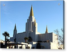 Oakland California Temple . The Church Of Jesus Christ Of Latter-day Saints . 7d11375 Acrylic Print by Wingsdomain Art and Photography