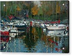 Oakville Harbour On Acrylic Print by Ylli Haruni