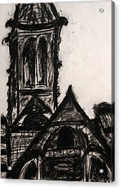 Oakwood Church Front Acrylic Print by Christophe Ennis
